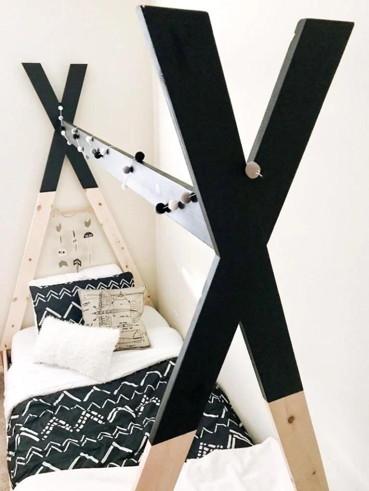 Kids Teepee Bed 15 1024x1024 - DIY Kids Teepee Bed