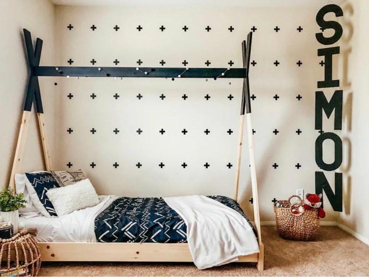 Kids teepee bed 2 1024x1024 - DIY Kids Teepee Bed