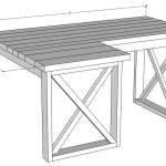L Shaped Double X Desk Handmade Haven