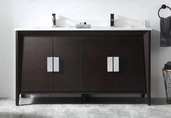 60 larvotto ebony contemporary double sink bathroom vanity cl 22eb60 bentoncollections