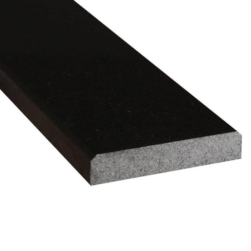 granite tile collection black threshold 5 x36 x0 75 polished double beveled threshold