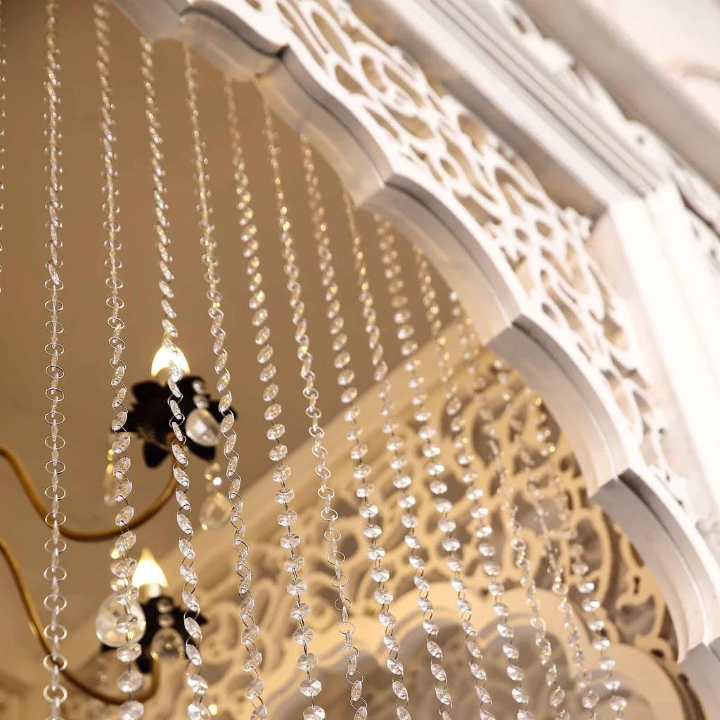 12ft X 3ft Clear Diamond Strand Premium Acrylic Crystal Bead Curtain Backdrop Wedding Party
