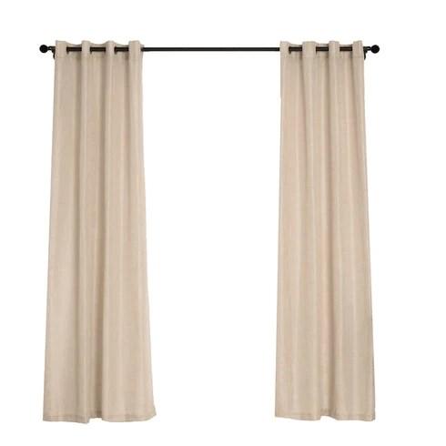 2 pack handmade linen curtain 52 x84 beige faux linen curtain panels with chrome grommets