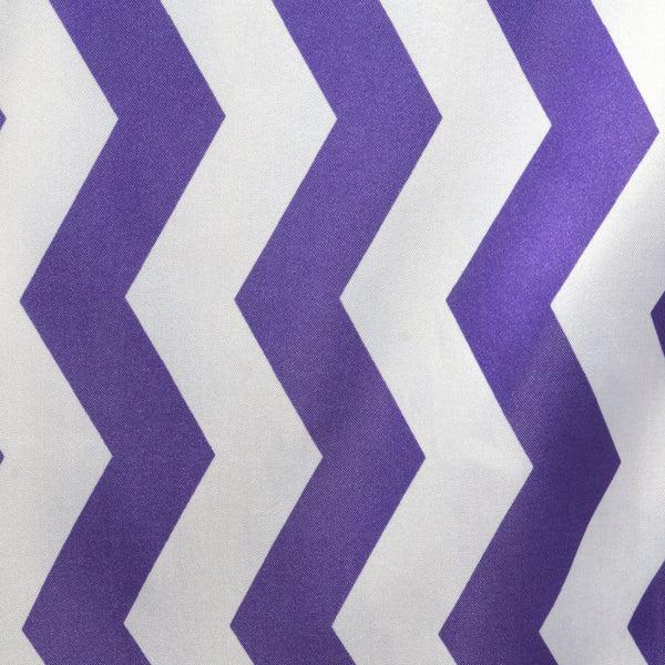 Chevron Satin Table Runner PurpleWhite EFavorMart