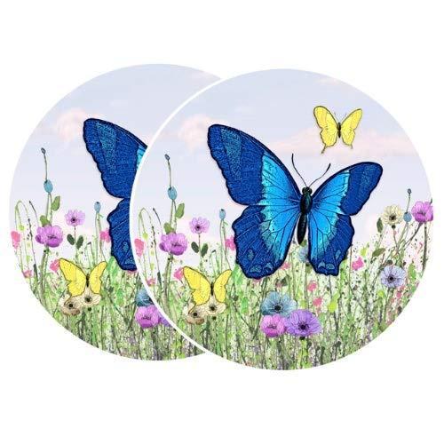 retractable screen door stickers 4 x 4 butterfly