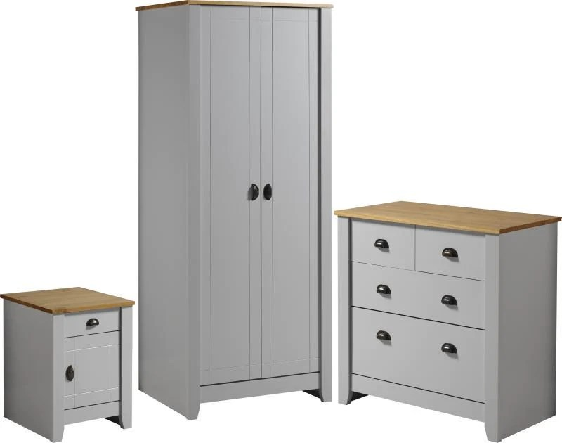 Marvelous Ludlow Bedroom Furniture Set In Grey Oak Lacquer Sland Co Uk