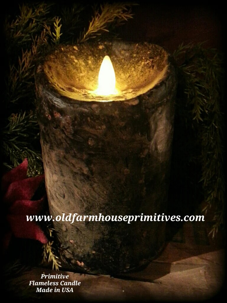 PFB2 Primitive Flameless Real Look Flame Candle In Black