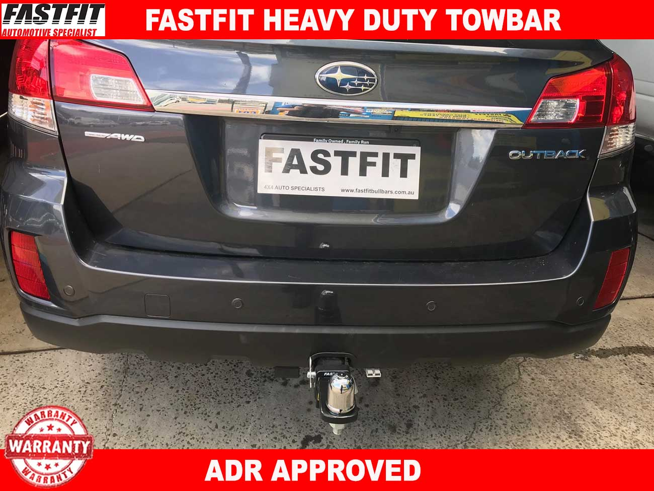 fastfit heavy duty towbar to suit subaru outback my 10 09 2009 2014