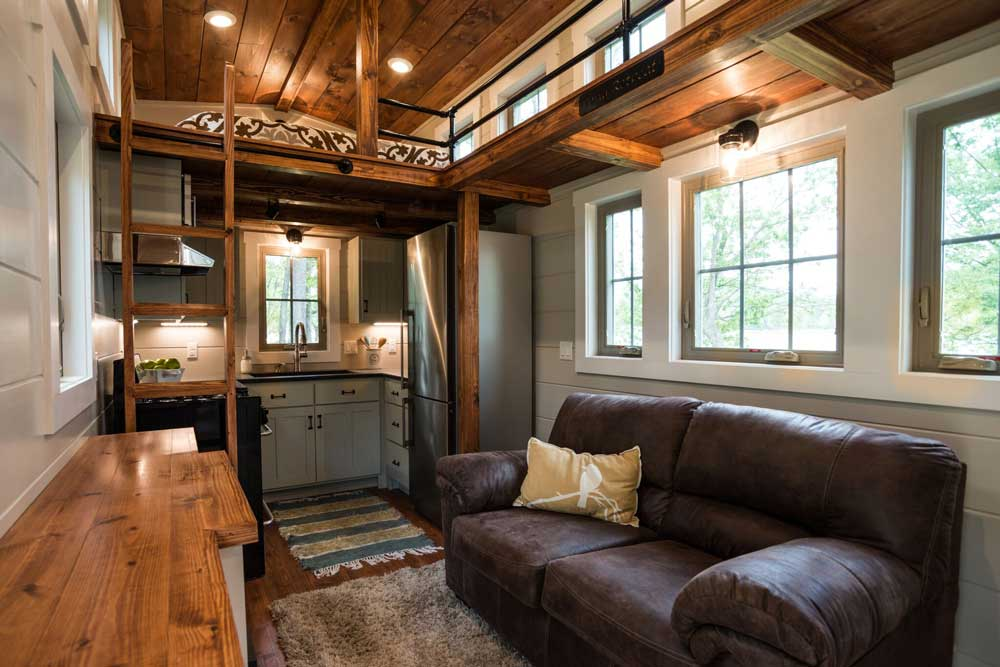 """The Handcrafted 416-sqft """"Retreat"""" By Timbercraft Tiny"""