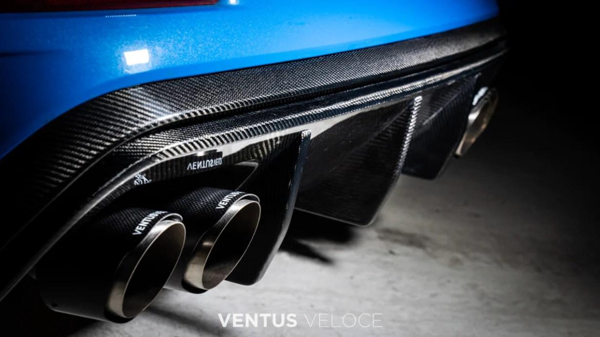 2018 focus rs rear diffuser quad tip