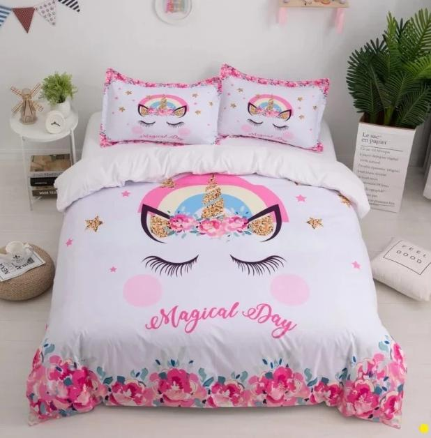 3d cute unicorn bedding sets duvet cover kids bedding sets twin full queen king size