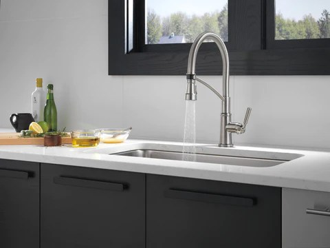 peerless p7924lf westchester single handle commercial style kitchen faucet