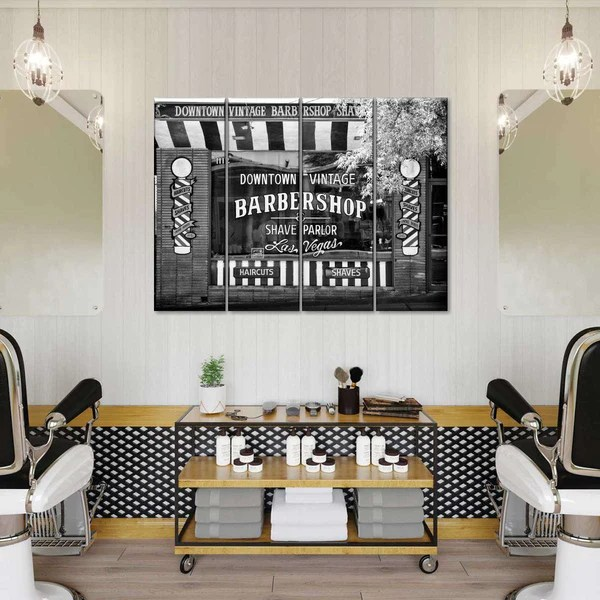 Barbershop Las Vegas Multi Panel Canvas Wall Art