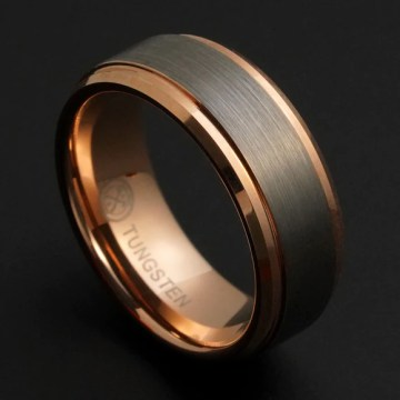 Unique Mens Wedding Bands   Weddings Rings   Manly Bands Rose Gold Wedding Bands Rose Gold Wedding Bands