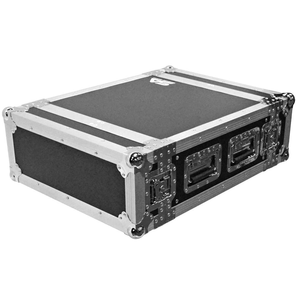 satac4u heavy duty 4 space ata rack case 4u pa dj flight case
