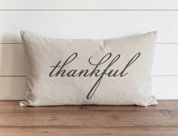 thankful 16 x 26 lumbar pillow cover
