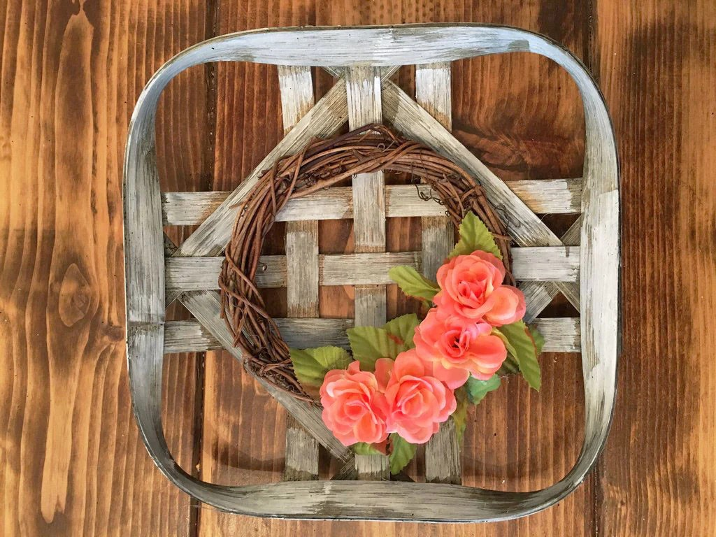 10x10 White Super Mini Vintage Reproduction Basket Modern Rustic Home