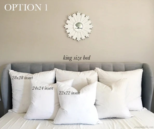 decorative pillows for king size bed