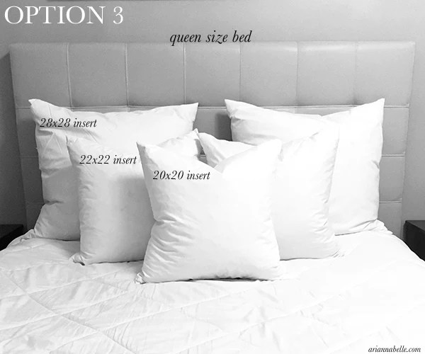 pillow size guide for queen beds