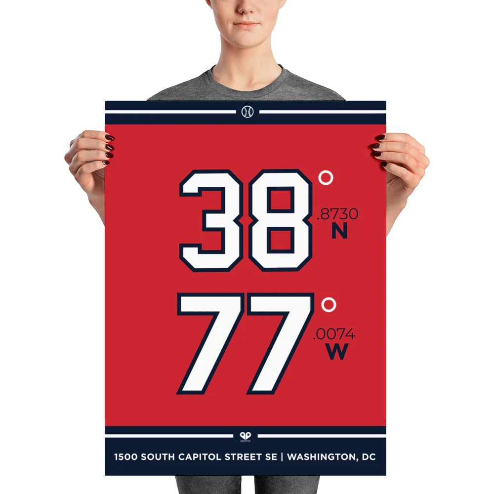 washington nationals unframed poster pinpoint love