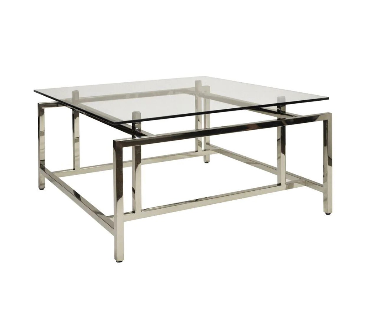Worlds Away Nigel Square Glass Coffee Table