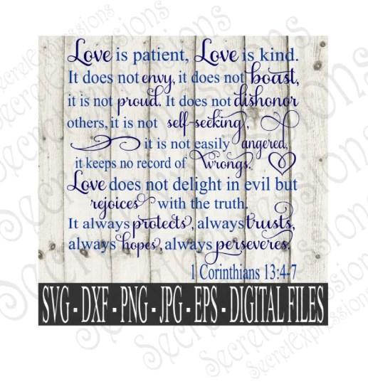 Download Love is Patient Love is Kind Svg, Wedding, 1 Corinthians ...