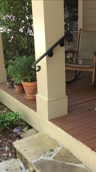 Scroll Wrought Iron Handrail Railing | Wrought Iron Outdoor Handrails | Curved | Vintage Salvaged Outdoor Iron | Aluminum | Modern | Residential