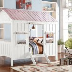 Acme Spring Cottage Full Bed White Pink 37695f Hipbeds Com