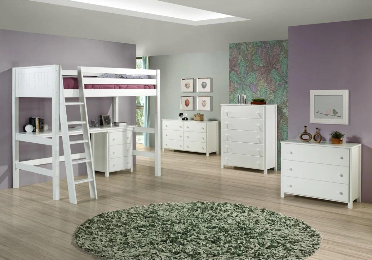 Camaflexi Full High Loft Bed Panel Headboard White C623f Hipbeds Hipbeds Com