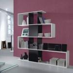 Alexis Diagonal Open Bookcase Room Divider