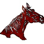 Horse Head Metal Wall Decor Wild West Living