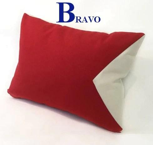 sunbrella outdoor nautical code flag pillows