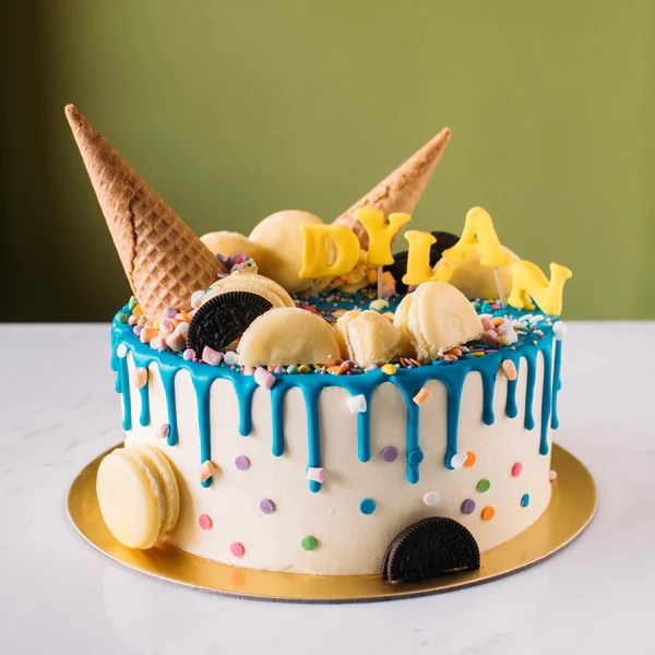 Buy Ice Cream Cone Drizzle Cake At Custom Bakes By Edith Patisserie For Only 7500