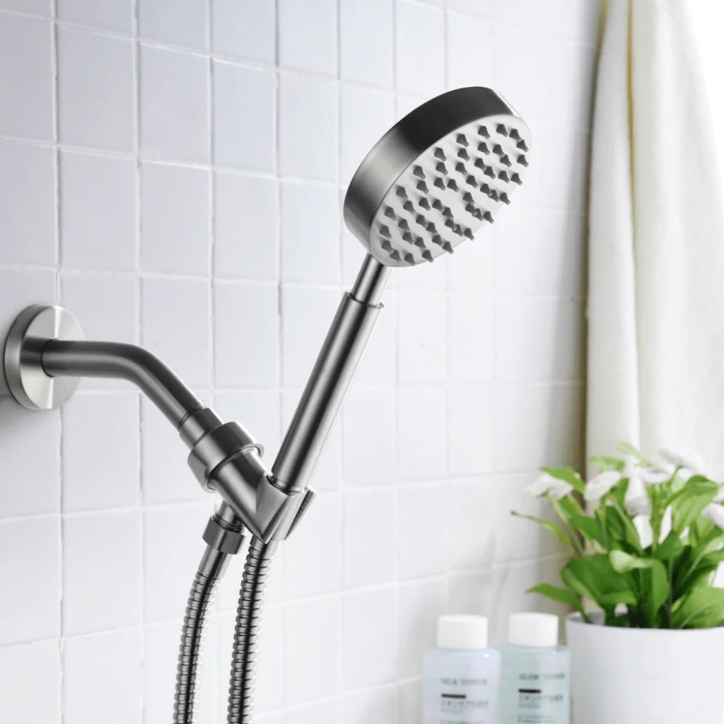 All Metal Single Function Hand Held Shower Head Set The