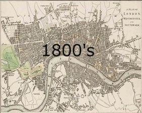Old Map of London     The Old London Map Company 1800  39 s  1800 s