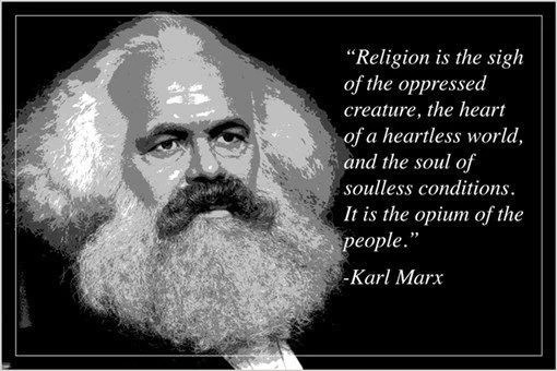 """""""religion opium of the people"""" KARL MARX motivational ..."""