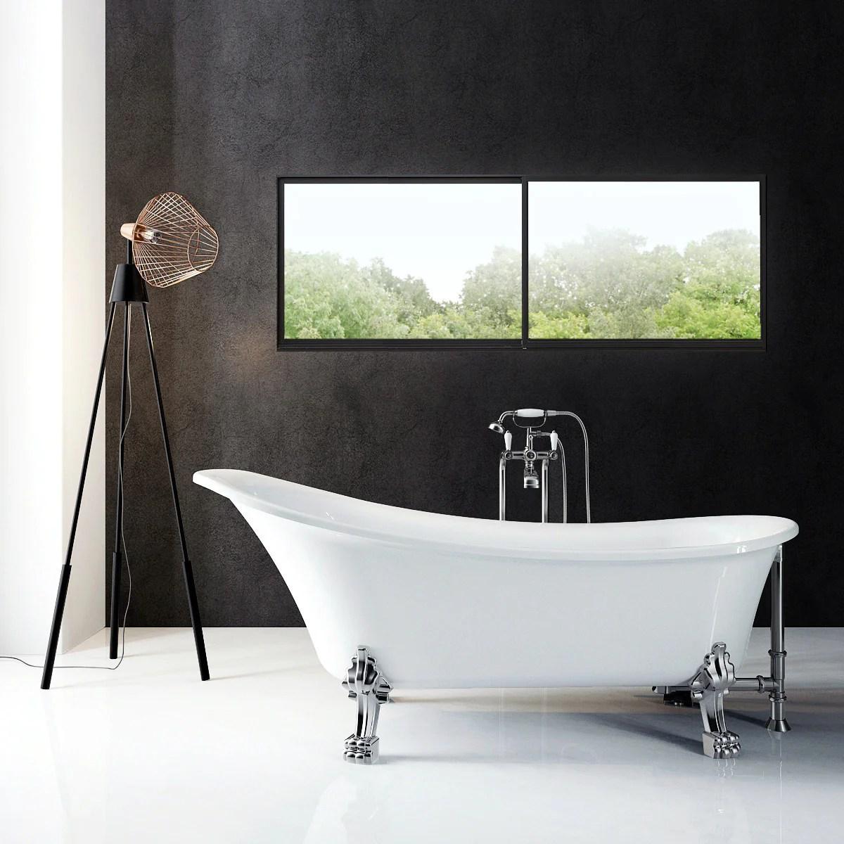 a e bath and shower dorya acrylic 69 premium all in one clawfoot freestanding tub kit