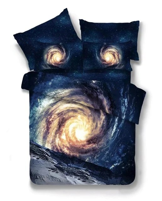 3D Space Star Galaxy Bedding set Twin/Queen Size/Universe ...