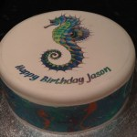 Seahorse Edible Icing Cake Topper 01 The Caker Online