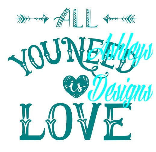 Download All You Need is Love Shirt SVG Cutting Cricut File - The ...