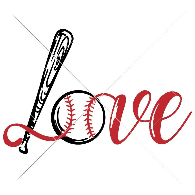 Download Love Baseball Bat Ball svg png dxf eps | Chameleon ...