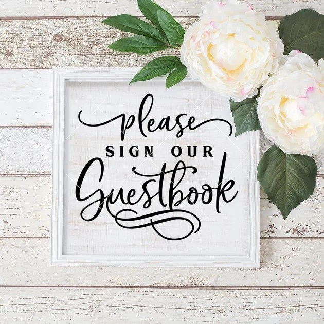 Download Please sign our Guestbook Wedding sign svg png dxf eps ...