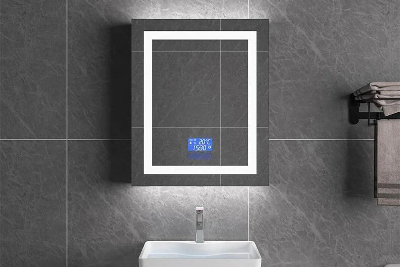 Miroir Intelligent Led Avec Bluetooth Reglage Temperature Anti Broui Mon Enseigne Lumineuse