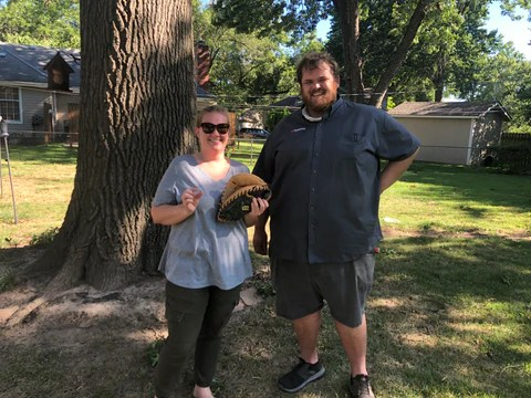 couple holding ring found by high plains prospectors