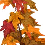 Beautiful Fall Colors Extra Full Autumn Maple Leaf Garland 8 5 Foot One Holiday Way