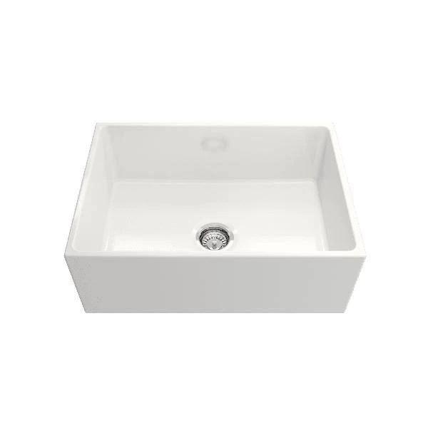 crestwood cw mod 27 27 white modern single bowl smooth fireclay farmhouse sink