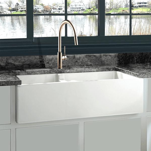 nantucket hyannis 36 dbl 36 white 60 40 double bowl fireclay farmhouse sink