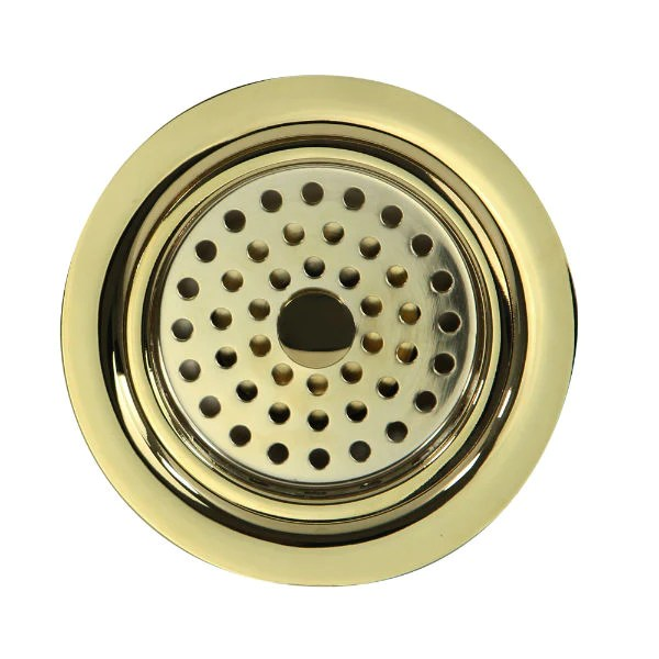 nantucket 3 5 polished brass kitchen sink drain 3 5 kdpb