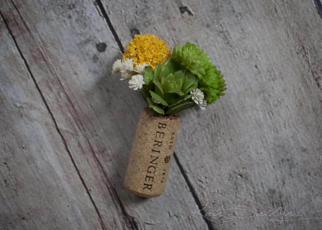 Succulent And Craspedia Wedding