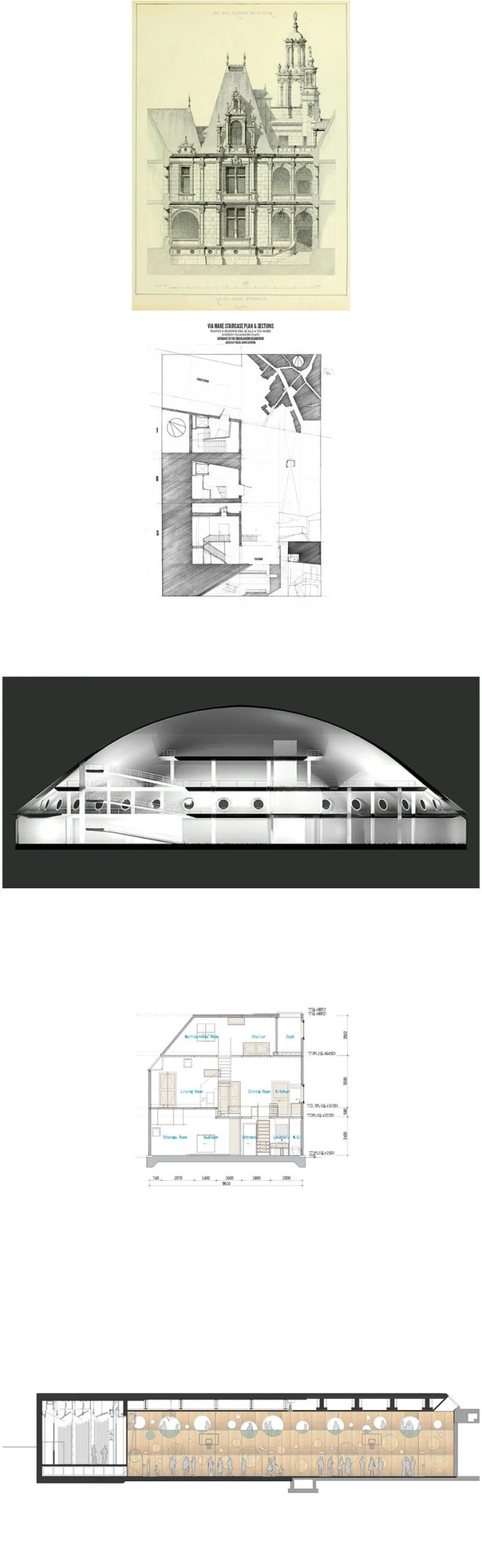 Architectural sections and elevations Gallery V.2